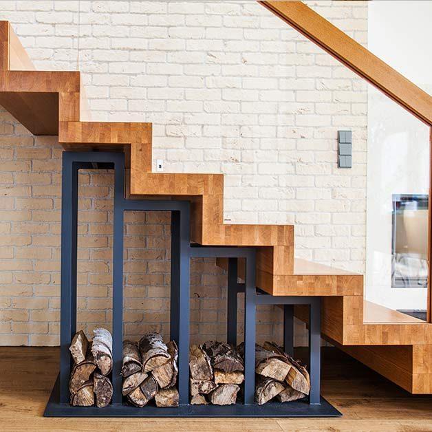 escalier en bois à Montpellier
